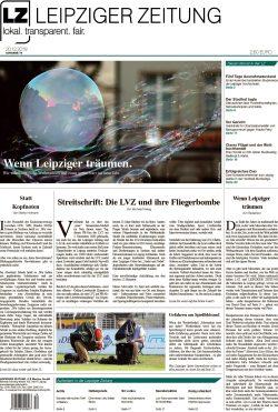 Das Titelblatt der letzten LZ für 2019. Leipziger Träume zum Jahresschluss. Foto: Screen LZ
