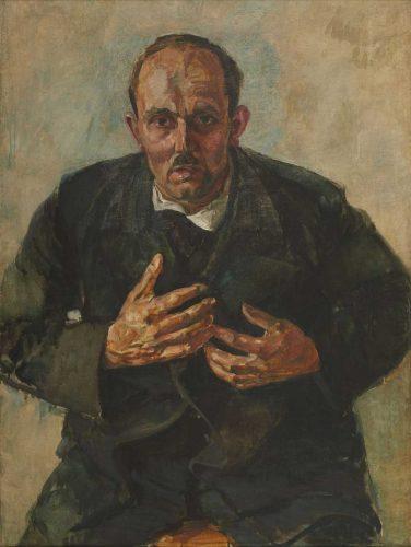 Walter Münze, Alfred Frank, 1921, Tempera und Öl auf Hartfaser. Foto: Walter Münze