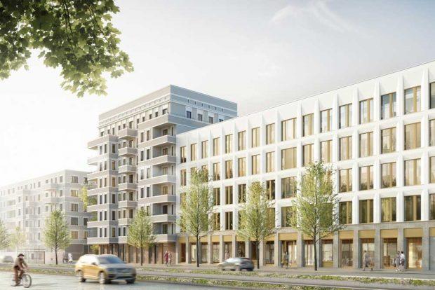 """Das neue Quartier """"Prager RiebECK"""". Visualisierung: AOC Immobilien AG / Fuchshuber Architekten"""