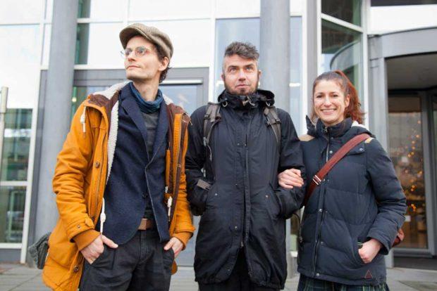 Die Einwender am Tag der Anhörung: Raja Donkowa (r.) und Ronny Siebert (l.). Foto: Michael Billig