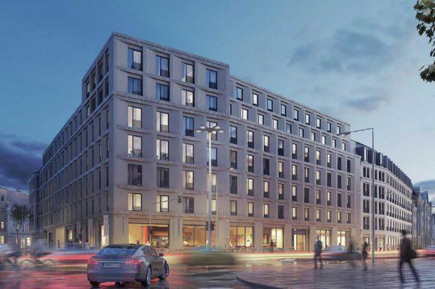 Blick von der Brandenburger in die Hofmeisterstraße. Visualisierung: Argo Capital Partners
