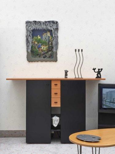 Henrike Naumann, Hundertwasser, 2018, mixed media installation, exhibition view Museum Abteiberg. Foto: Achim Kukulies, Düsseldorf, Courtesy the artist and KOW Berlin