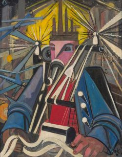 Elisabeth Voigt, Der Maschinenmann (Der Unternehmer), 1948. Foto: MdbK, © Nachlass Elisabeth Voigt