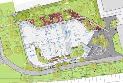 Übersichtsplan der Skateanlage an der Parkallee. Karte: Stadt Leipzig