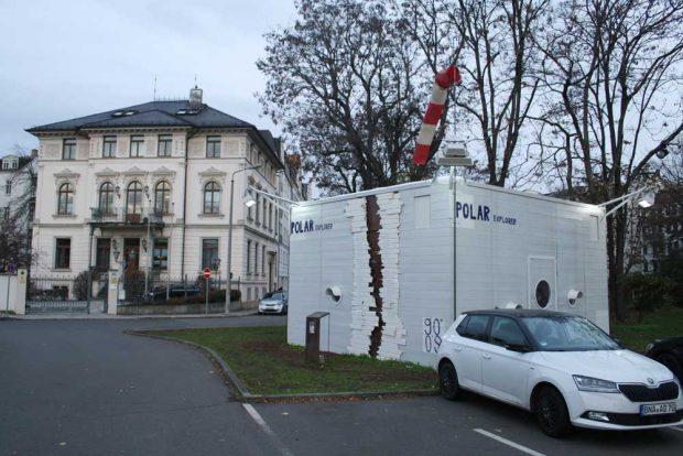 Die Forschungsstation vor dem Naturkundemuseum. Foto: Ralf Julke