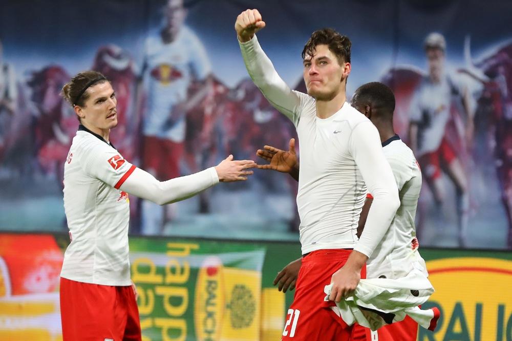 Nach einem 3:1 gegen Augsburg ist RB Leipzig erstmals Herbstmeister. Foto: Gepa Pictures