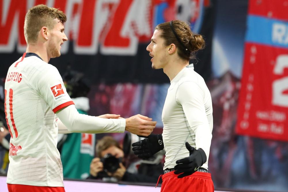 Werner und Sabitzer erzielten die Treffer für RBL. Foto: Gepa Pictures