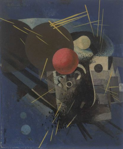 Friedrich Schmitz-Bellinger, Komposition mit roter Kugel, 1930. Foto: MdbK