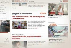 """Der """"Spiegel""""-Artikel """"Wer wählt die Grünen?"""" und sein Umfeld. Screenshot: L-IZ"""