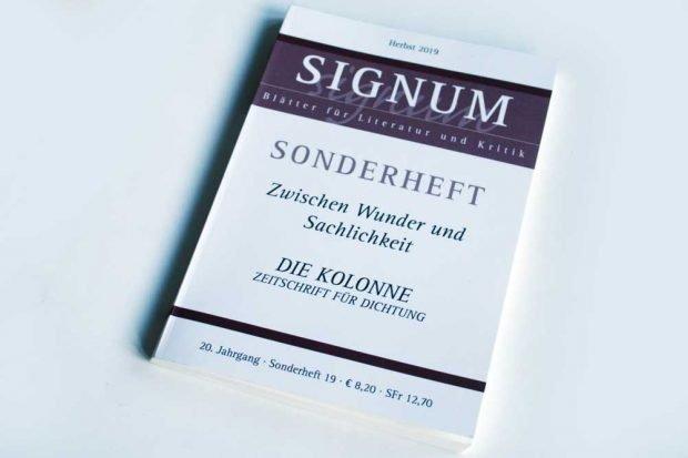 """""""Signum""""-Sonderheft: Zwischen Wunder und Sachlichkeit. Foto: Ralf Julke"""