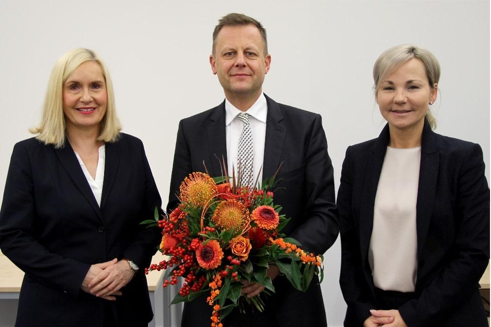 v.ln.r: Dr. Iris Minde, Torsten Bonew, Claudia Pfefferle © Klinikum St. Georg