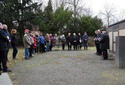 Gemeinsames Gedenken am Ehrenhain. Quelle: Stadtverwaltung Borna