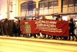 Vorn wollte man für Indymedia demonstrieren ... Foto: L-IZ.de