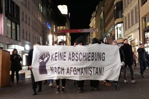 Protest gegen Abschiebungen nach Afghanistan. Foto: René Loch