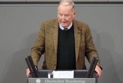 Alexander Gauland (hier am 21.11.2017 im Bundestag) will am 17. Januar 2020 Christoph Naumann bei seiner OB-Kandidatur in Leipzig unterstützen. Foto: Bilderdienst des bundestag.de, Fotograf: Achim Melde