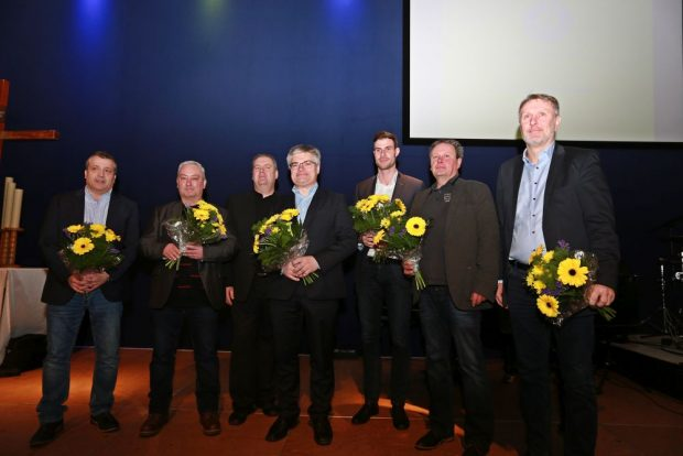 Der neue Aufsichtsrat des 1. FC Lok: Olaf Winkler,Steffen Rößler, Jens-Peter Hirschmann, Stefan Dinter, Frank Balling, Mike Scheffler (v.l.). Foto: Thomas Gorlt