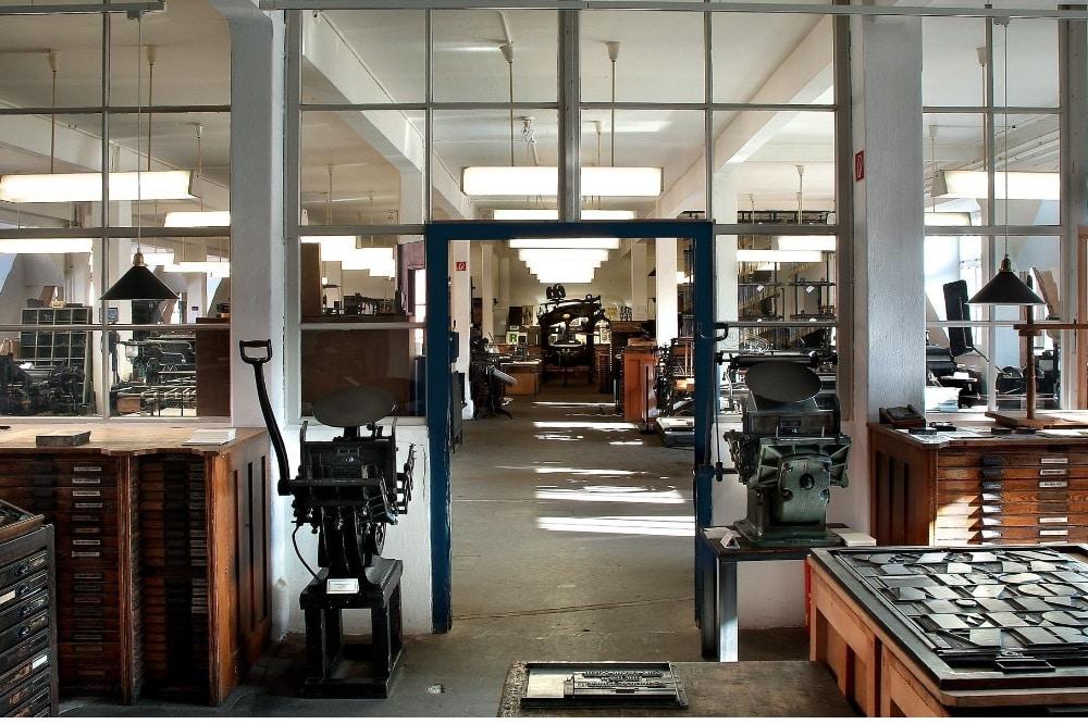 Blick in die Sammlung des Museums für Druckkunst Leipzig © Klaus-D. Sonntag