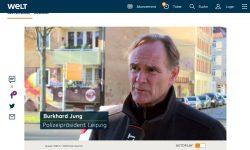 Burkhard Jung bei Welt.de als Polizeipräsident. Screnshot: Video Welt.de