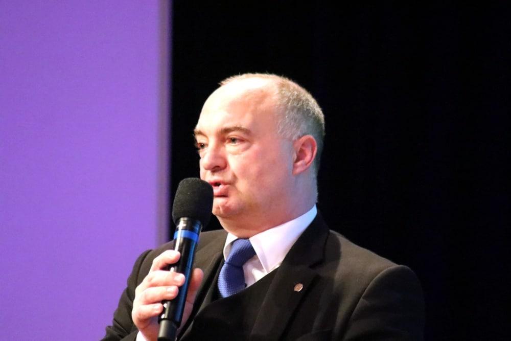 Christoph Neumann (AfD) kann seine OB-Wahlveranstaltung in der