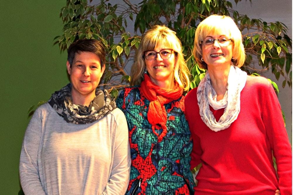 Von links nach recht: Gabriele Dietrich, Heike Oehlert, Karin Keil. Quelle: Freie Wähler