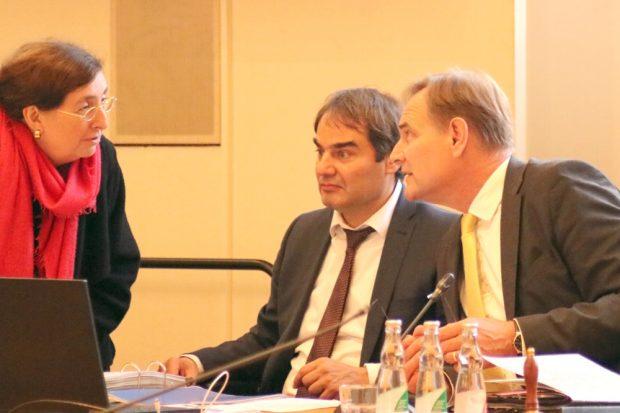 Nicht immer einer Meinung: Dorothee Dubrau (parteilos) und OB Burkhard Jung (r.). Foto: L-IZ.de
