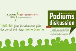 Podiumsdiskussion zur OBM-Wahl 2020. Bild: BUND Leipzig