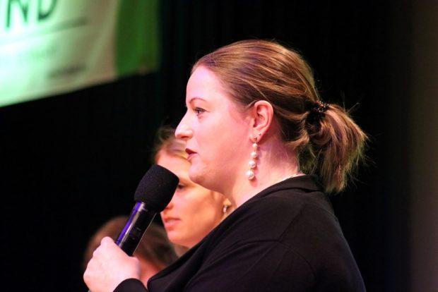 Ute Elisabeth Gabelmann am 17. Januar 2020 beim BUND Leipzig. Foto: L-IZ.de