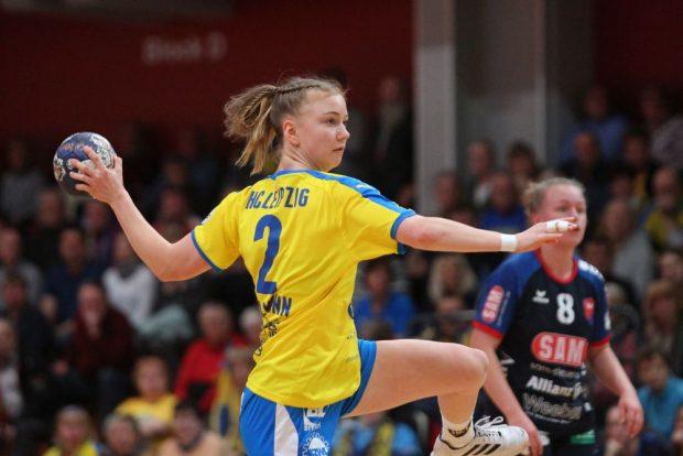 Pauline Uhlmann war mit 10 Toren treffsicherste Leipzigerin. Foto: Jan Kaefer