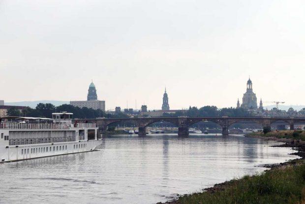 Die Residenzstadt Dresden an der Elbe. Foto: Michael Freitag