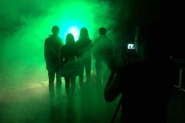 Dreharbeiten für den Trailer im HTWK-Studio. Foto: HTWK Leipzig