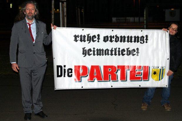 Ruhe, Ordnung und Heimatliebe mit der PARTEI Leipzig. Foto: L-IZ.de