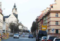 Die Querungshilfe in der Linkelstraße. Foto: Ralf Julke