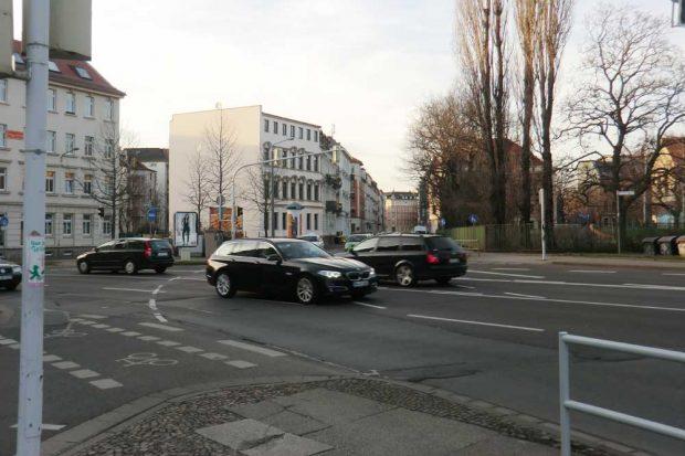 Blick über die Rödelstraße Richtung Schnorrstraße. Foto: Marko Hofmann