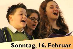 Abschlussgottesdienst Kindersingwoche. Plakat: Kirchenbezirk Leipzig