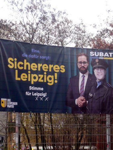 Nur mit der PARTEI gibt es das sicherere Leipzig. Foto: Frank Willberg