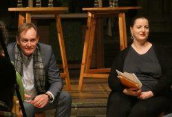 Burkhard Jung und Ute Elisabeth Gabelmann beim OBM-Podium in der Peterskirche. Foto: L-IZ.de