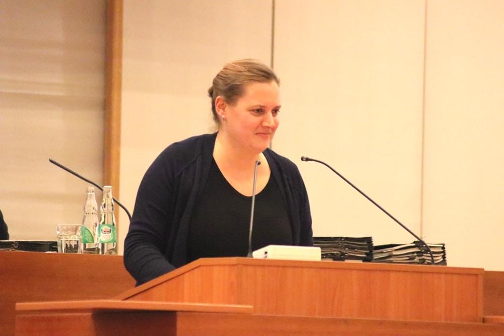 Petra Čagalj Sejdi im Januar 2018 im Leipziger Stadtrat. Foto: LZ