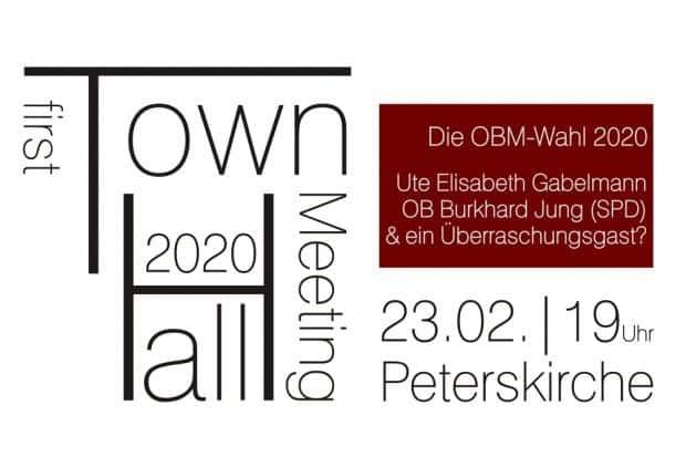 Die erste Leipziger Townhall anläßlich der OBM-Wahl in der Peterskirche. Grafik: L-IZ.de