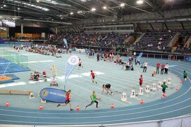 Viel Bewegung gab es am Sonntag in der Arena Leipzig zum Schülersportfest der SG MoGoNo. Foto: Jan Kaefer