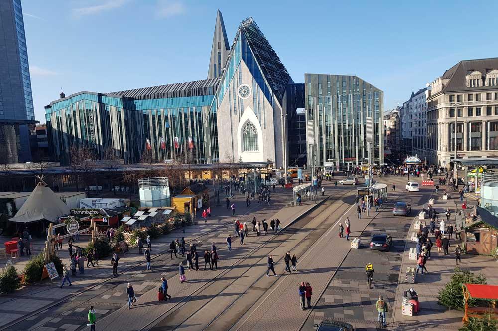 Augustusplatz in der Vorweihnachtszeit. Foto: Marko Hofmann