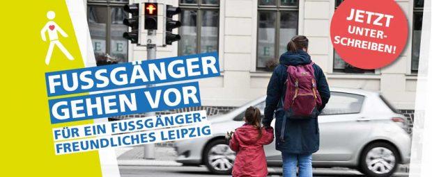 "Kampagnenmotiv ""Fußgänger gehen vor"". Foto: Ökolöwe"