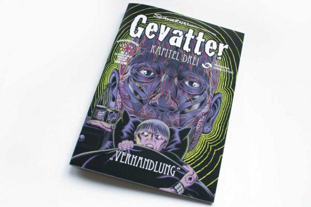 Schwarwel: Gevatter. Kapitel Drei. Verhandlung. Foto: Ralf Julke