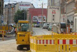 Straßenbau in der Lützner Straße. Archivfoto: Gernot Borriss