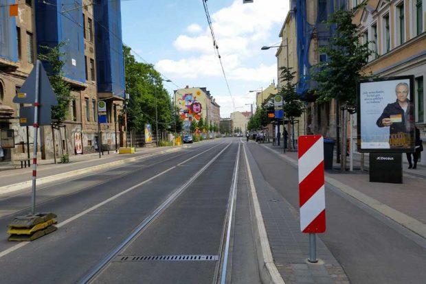 Blick in die Lützner Straße. Archivfoto: Marko Hofmann