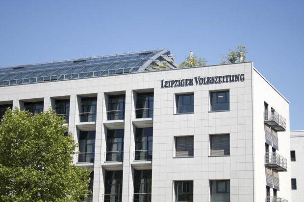 Die LVZ möchte strafrechtlich gegen die Verwendung ihres Logos auf Wahlplakaten vorgehen. Foto: L-IZ.de