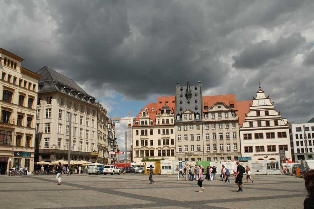 Das Herz der Stadt - der Marktplatz. Foto: Ralf Julke