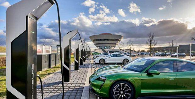 """Ladepark """"Porsche Turbo Charging"""" in Leipzig. Foto: Porsche"""