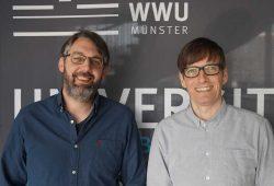 Prof. Dr. Bernd Schlipphak und Prof. Dr. Oliver Treib vom Institut für Politikwissenschaft der Universität Münster (v.l.). Foto: IfPol - Matthias Freise