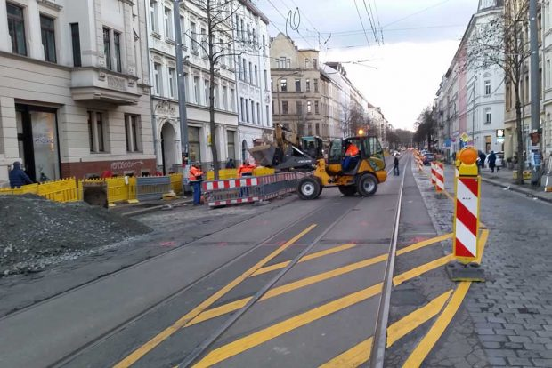 Straßenbau in Leipzig. Archivfoto: Marko Hofmann