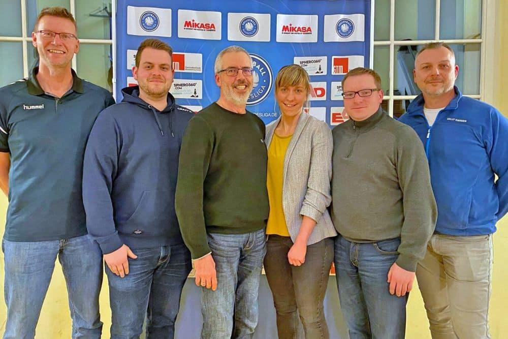 Der neue L.E. Volleys-Vorstand (von links): Thomas Bauch, Stefan Roßbach, Martin Ivenz, Katja Weiße, Thomas Nicklisch und Stefan Schulze. Foto: L.E. Volleys